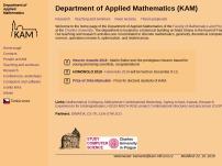 Katedra aplikované matematiky Matematicko-fyzikální fakulty