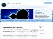 Katedra meteorologie a ochrany prostředí Matematicko-fyzikální fakulty