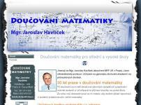 DOUČOVÁNÍ MATEMATIKY – Mgr. Jaroslav Havlíček