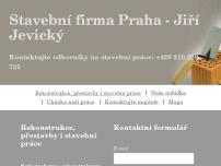 Stavební firma Praha – Jiří Jevický