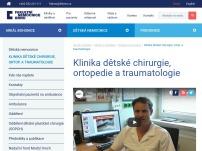 Ambulance dětské chirurgie, ortopedie a traumatologie