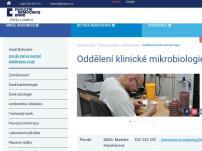Oddělení klinické mikrobiologie