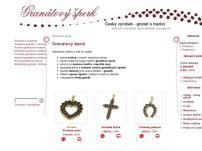 Granátový šperk