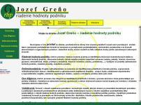 Ing. Jozef Greňo - riadenie hodnoty podniku