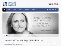 Mgr. Hana Kuncová - HK advokátní kancelář