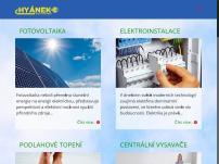 Fotovoltaické elektrárny – Jan Hyánek