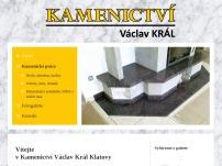 Václav Král – kamenictví