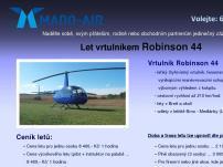 Let vrtulníkem Robinson 44