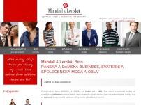 MAHDALL&LENSKÁ módní salon – největší nabídka obleků a pánské módy v Brně