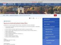 Sportovní a technické zařízení města Zdice