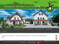 Penzion Větrný mlýn Praha – ubytování, parkování