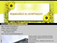Apartmány Podhájska 93