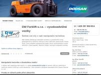 DW Forklift s.r.o. – Prodej, servis a bazar manipulační techniky
