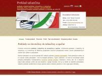 Roman Stoszek - úradný preklad taliančina - slovenčina