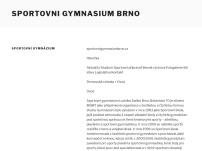 Sportovní gymnázium Ludvíka Daňka, Brno