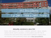 Společenství vlastníků jednotek Petržílkova č.p. 2483, 2484 a 2485, Praha 5