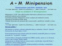 Lucie Hradecká - A+M minipension