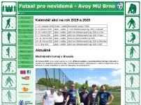 Futsal pro nevidomé - Avoy MU Brno