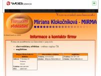Tlumočení Mirjana Klokočníková