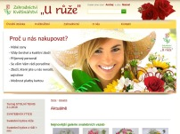 """Zahradnictví a květinářství """"U růže"""""""