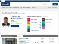 Allianz pojišťovna, a. s. – zástupce Ing. Miroslav Michalák