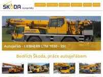 Bedřich Škoda – práce autojeřábem