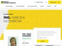 Finanční poradenství – Ing. Marcela Kleisnerová