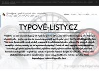 Typove-listy.cz