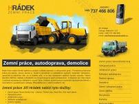 Zemní práce, autodoprava, demolice – Jiří Hrádek
